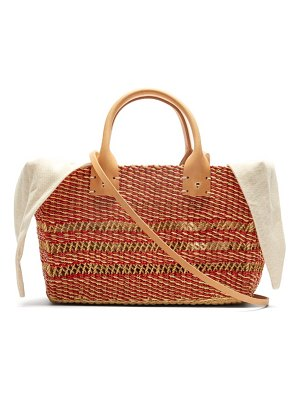 MUUÑ carrie woven straw basket bag