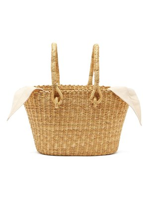 MUUÑ claudia mini straw basket bag