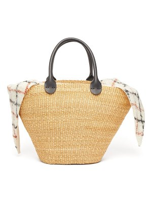 MUUÑ marlene woven straw leather basket bag