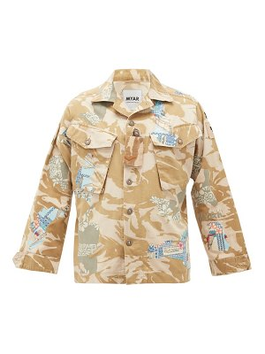 MYAR camouflage-print upcycled cotton-blend jacket