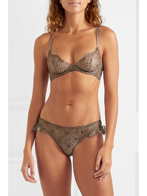Myla London rosemoor street metallic leavers lace underwired soft-cup bra