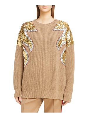 N21 n degree21 sequin shoulder wool sweater