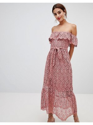 NA-KD - Lace Off Shoulder Dress