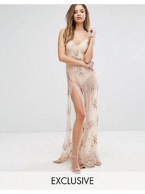 NaaNaa Maxi Dress in Sequin with Bodysuit