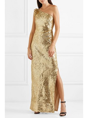 Naeem Khan one-shoulder sequined tulle gown