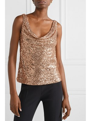 Naeem Khan sequined stretch-knit top