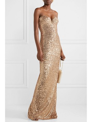 Naeem Khan strapless sequin-embellished tulle gown