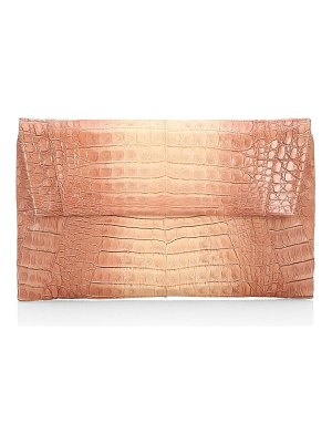 Nancy Gonzalez crocodile envelope clutch