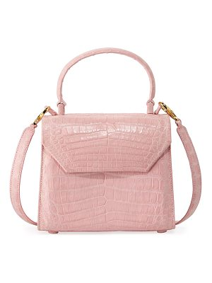 NANCY GONZALEZ Crocodile Small Flap Top-Handle Crossbody Bag