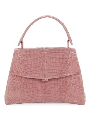 Nancy Gonzalez Curved-Bottom Small Crocodile Top-Handle Bag