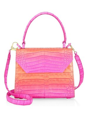 Nancy Gonzalez florescent ombré crocodile leather top handle bag