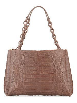 Nancy Gonzalez Large Chain Center Zip Shoulder Bag
