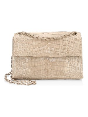 Nancy Gonzalez madison double strap crocodile shoulder bag