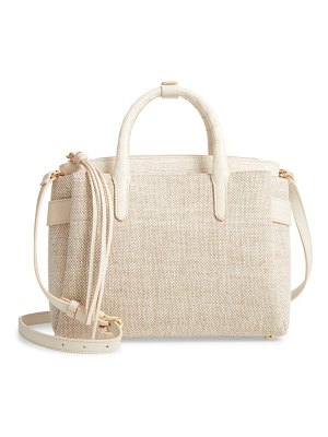 Nancy Gonzalez medium cristie linen & genuine crocodile tote