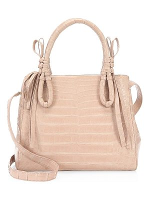 NANCY GONZALEZ Medium Double Tie-Knot Crocodile Tote