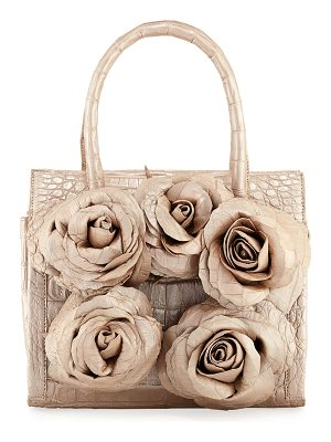 NANCY GONZALEZ Rosebud Frame Crocodile Tote Bag
