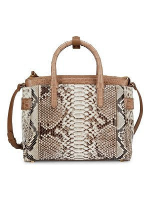 Nancy Gonzalez small cristie python & crocodile satchel