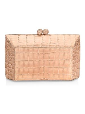 Nancy Gonzalez small crocodile box clutch