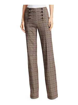 Nanette Lepore crusader plaid wide-leg trousers