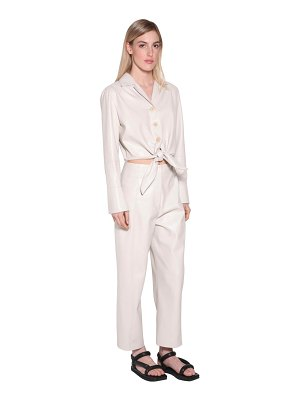 NANUSHKA Ana faux leather jumpsuit w/ cut out