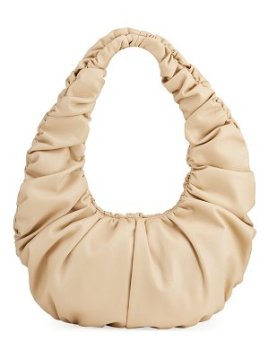 NANUSHKA Anja Ruched Vegan-Leather Shoulder Bag
