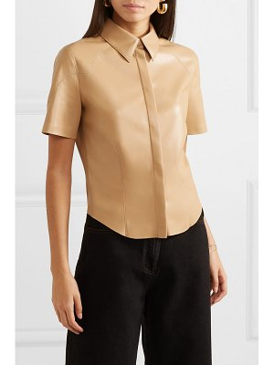 NANUSHKA clare vegan leather shirt