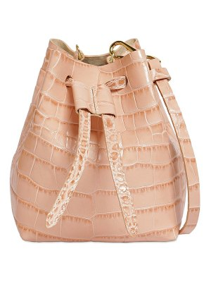 NANUSHKA Croc embossed leather shoulder bag