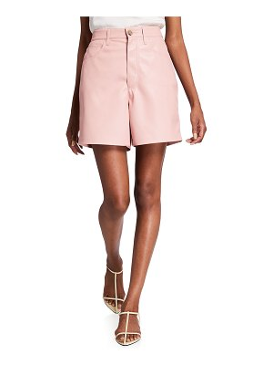 NANUSHKA Leana Vegan-Leather Shorts