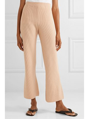NANUSHKA leba ribbed-knit straight-leg pants