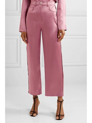 NANUSHKA marfa satin straight-leg pants