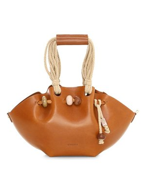 NANUSHKA mini lynne crafty leather tote