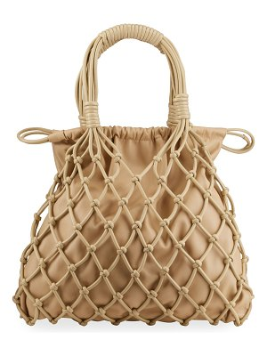 NANUSHKA Naiya Net Faux-Leather Top-Handle Bag