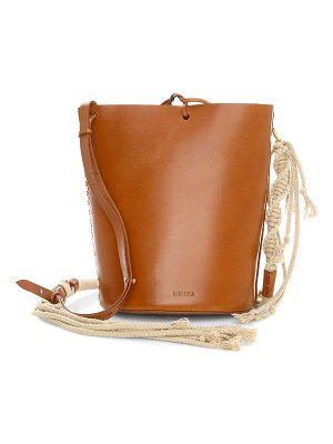 NANUSHKA nia leather bucket bag