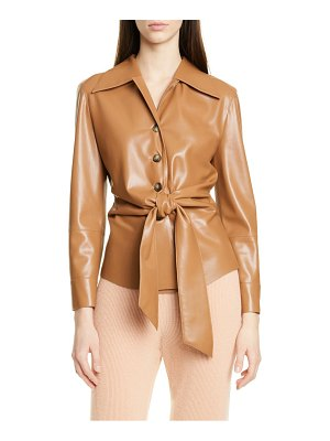 NANUSHKA poppy faux leather jacket