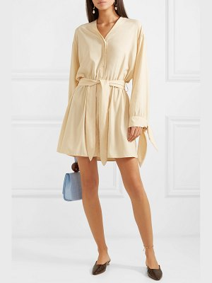 NANUSHKA tandi belted crepe mini dress