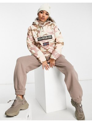 Napapijri rainforest winter pocket jacket in pink camo