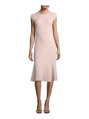 NARCISO RODRIGUEZ Cap-Sleeve Flounce Godet-Hem Dress