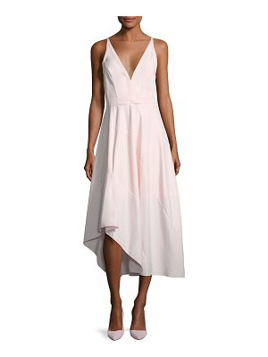 NARCISO RODRIGUEZ Sleeveless Belted Asymmetric Dress