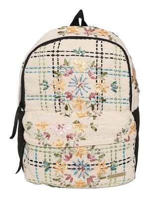 NATARGEORGIOU Embroidered neoprene & cotton backpack