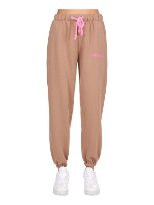 NATASHA ZINKO Logo detail cotton jersey sweatpants