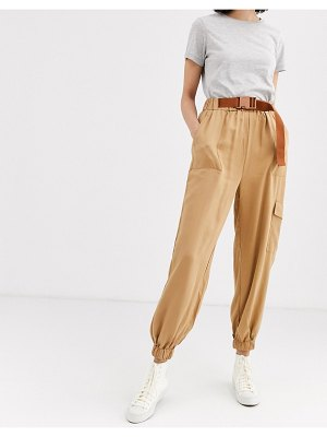 Native Youth cargo pants with belt-brown