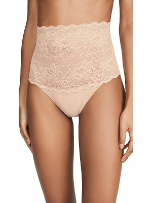 Natori plush high rise thong