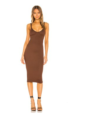 NBD tayshia midi dress