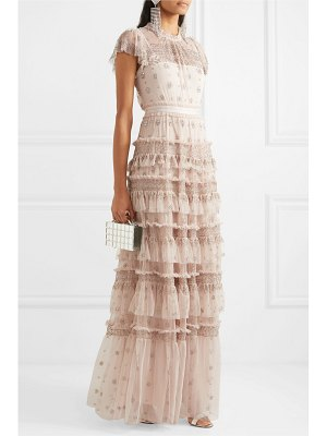 Needle & Thread andromeda embellished tulle gown