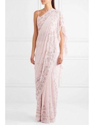 Needle & Thread astral embellished silk-chiffon saree