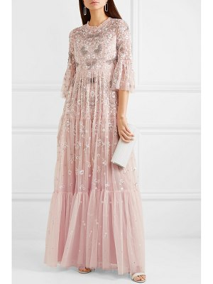 Needle & Thread dragonfly garden embellished embroidered tulle gown