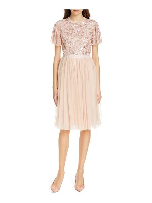 Needle & Thread dream rose a-line dress
