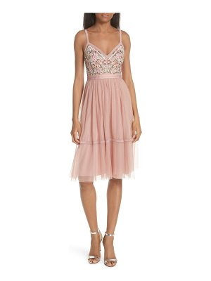 Needle & Thread embroidered fit & flare dress