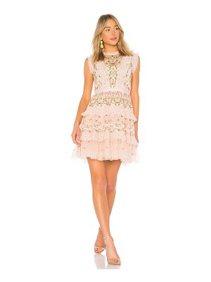Needle & Thread Lattice Rose Mini Dress