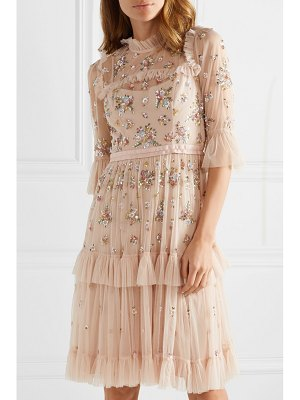 Needle & Thread lustre tiered embellished tulle dress